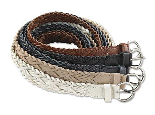 Orvis Women's Woven-leather Belt, Navy Blue, (Orvis Braided Belt)