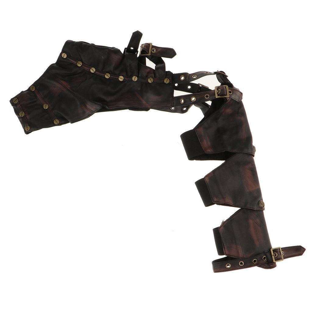 Fityle Rock Steampunk Leather Arm Sheath Costume Corset Shrug Jacket For Masquerade