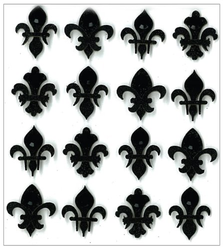 Jolee's Boutique Dimensional Repeat Stickers, Black Fleur Di -