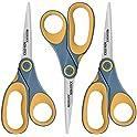 """3-Pack Westcott 8"""" Titanium Non-Stick Straight Scissors"""