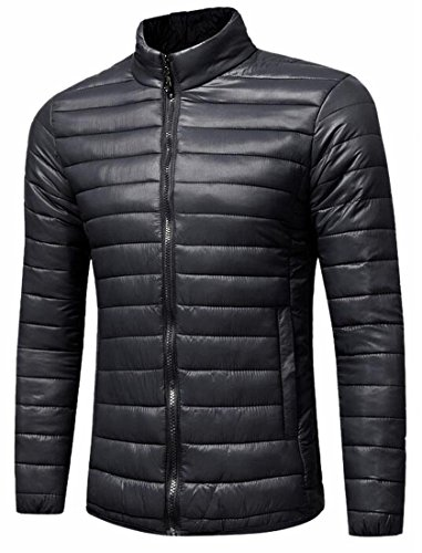 Jacket Men's Stand Winter Lightweight uk Year Down Packable Fly Black Collar q6az1F