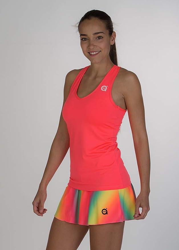 a40grados Sport & Style, Camiseta Cielo Rosa, Mujer, Tenis y Padel (Paddle)