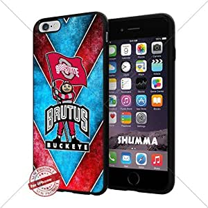 """NCAA Ohio State Buckeyes Cool iPhone 6 Plus (6+ , 5.5"""") Smartphone Case Cover Collector iphone TPU Rubber Case Black"""