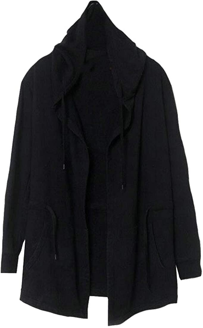 C/&H Men Outwear Big and Tall Cloak Cape Hoodie Stylish Trench Coat
