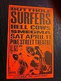 Butthole Surfers Hellcows Smegma Rare Original Small Punk Poster Flyer Handbill