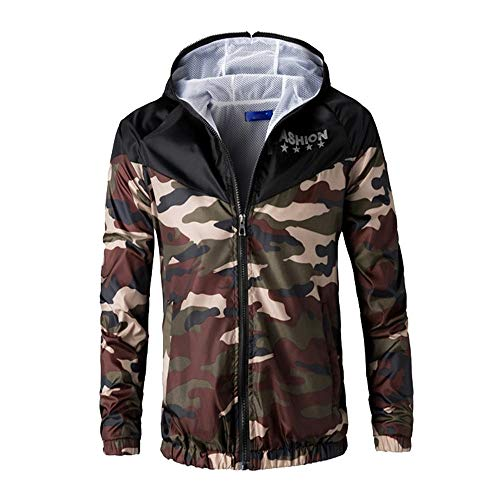 Clearance Sale! Caopixx Jackets for Men's Sweatshirt Bomber Jackets Casual Slim Fit Casual Camouflage Printed Outerwear Coat