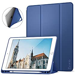 Ztotop Newest iPad 9.7 Inch 2018/2017 Case with Pencil Holder - Lightweight Soft TPU Back Cover with Auto Sleep/Wake, Protective for Apple iPad 6/5th Generation(A1822/A1823/A1893/A1954),Blue
