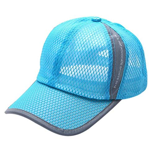Price comparison product image Unisex Summer Breathable Baseball Hat Sun Cap Lightweight Mesh Quick Dry Hats Adjustable Cap Cooling Sports Caps (Sky blue)