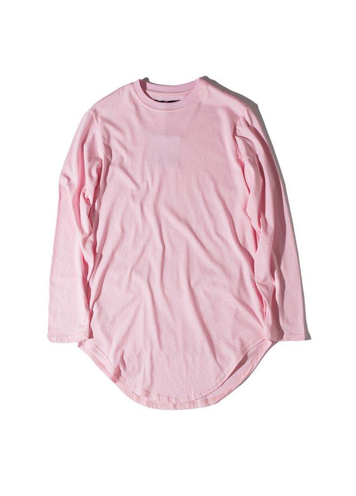 Vogstyle Men's Long Sleeve Shirt Casual Basic Cotton Pure Color T-Shirts L
