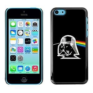 Caucho caso de Shell duro de la cubierta de accesorios de protección BY RAYDREAMMM - Apple iPhone 5C - Pink Album Trooper Black Sci-Fi