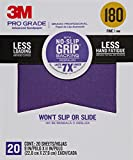 3M 26180CP-P-G 180 Grit Pro Grade No-Slip Grip Advanced Sandpaper (20 Pack), 9 x 11''