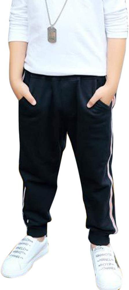 Yonglan Niño Cintura Elástica para Trotar Pantalón Chándal Algodón ...