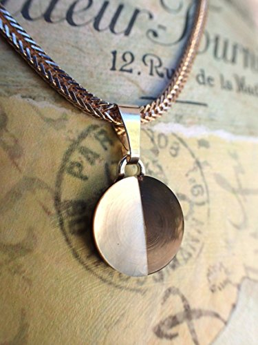 Vintage Wheat Chain - Vintage Inlaid White & Smoky Mother of Pearl Button Pendant Necklace, Smoky MOP Pendant, MOP Button, Sterling Silver 18
