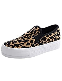ASVOGUE Women Trendy Leopard Print Slip-ons Flat Shoes