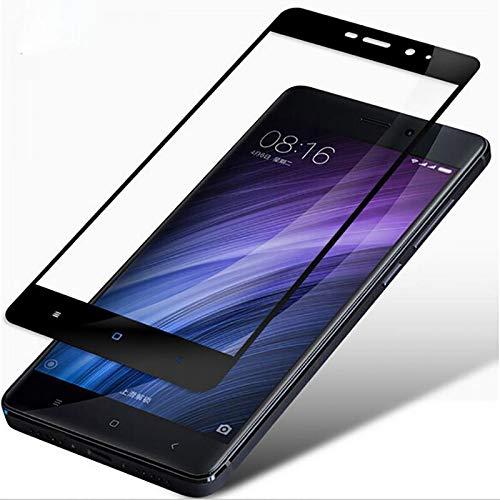 XinWDg Full Cover Tempered Glass for Xiaomi Mi6 Mi5 Mi5S Redmi Note 4 4X Pro Redmi 4A 4X Prime Screen Protector Toughened Film,White,Redmi 4 16GB