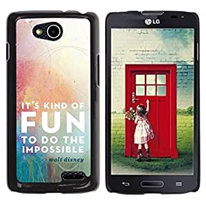 Be Good Phone Accessory // Dura Cáscara cubierta Protectora Caso Carcasa Funda de Protección para LG OPTIMUS L90 / D415 // Cartoon Quote Fun Impossible Motivational