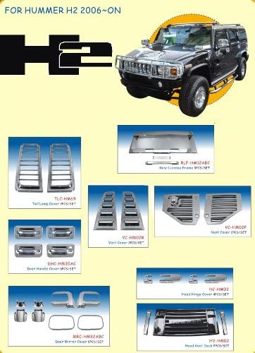 5 Pc: Stainless Steel Front Bumper Trim, SUV H2 2003-2009 HUMMER HV43007:QAA