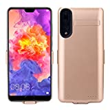 Scheam Xiaomi Mi 8 Battery Case, Rechargeable External Battery Portable Power Charger Protective Charging case Compatible with Xiaomi Mi 8 (Golden)