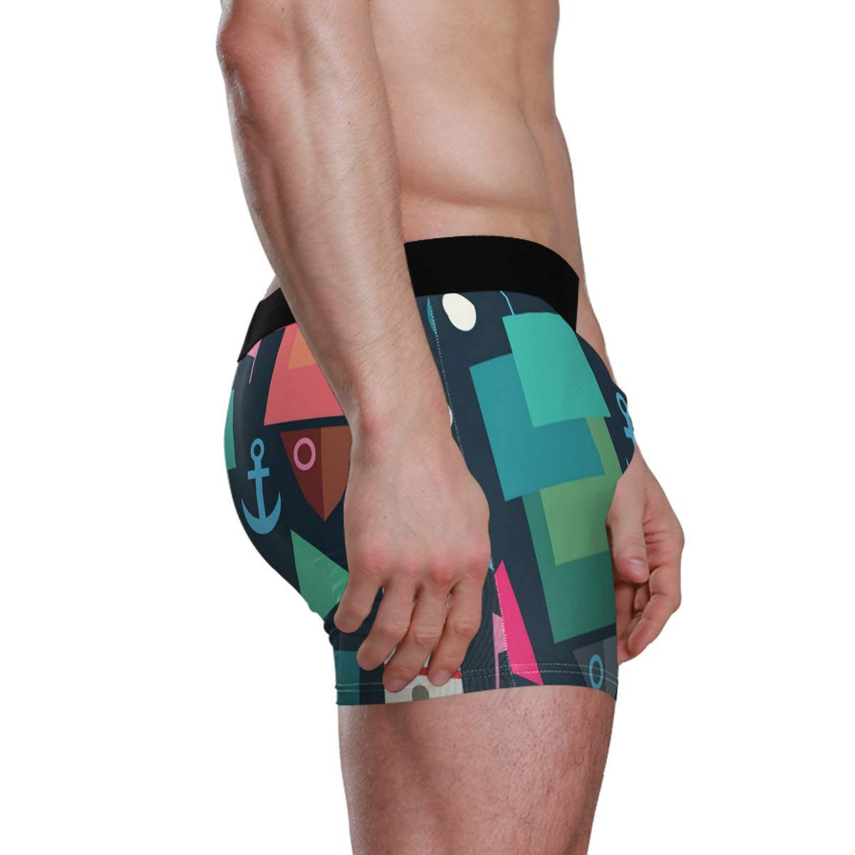 Geometry of The Sea Vipsk Seamless Stretch Mens Polyester Boxer Briefs Underwear 1-Pack Set
