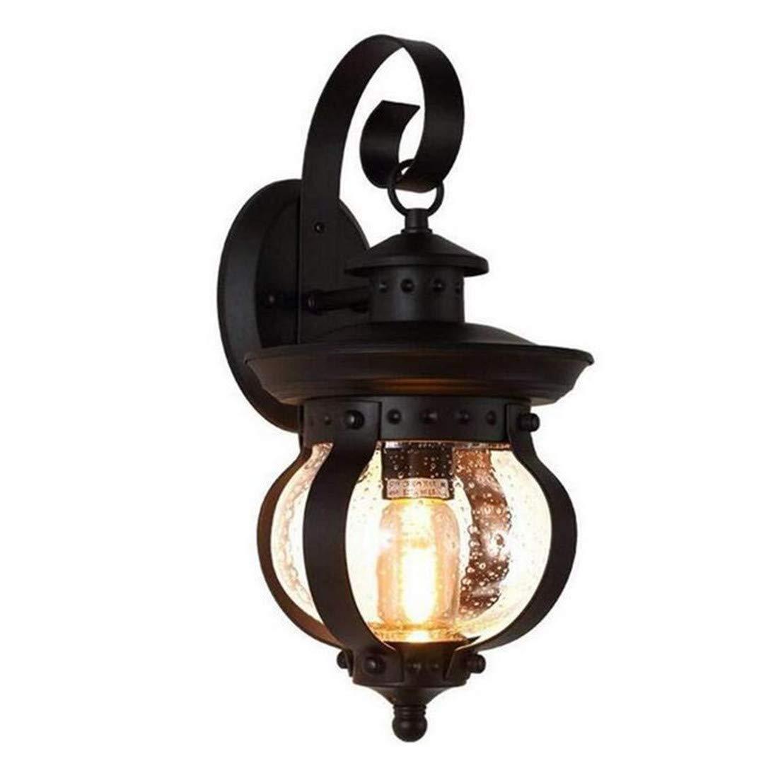 Vintage Chandelierlight Spotlight40Cm Außenwandleuchte Retro Kreative Einfachheit Balkon Garten Glas Leuchte