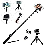 Wireless Selfie Stick,EletecPro Adjustable Remote Control Bluetooth Waterproof Extendable Foldable Telescoping Monopod For Iphone 6 6S Gopro Hero 5 4 3+ 3 2 SJCAM SJ4000 SJ5000 Action Camera