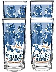 Kentucky Derby Mint Julep Glass, Official Souvenir Glassware, 4 Pack (147th/2021)