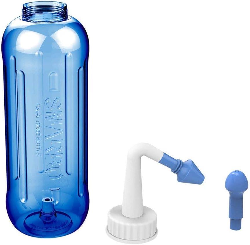 Neti Pot Neti color azul enjuague nasal spray salino nasal 500 ml aspirador nasal Botella de spray nasal enjuague nasal alergias alivio de la presi/ón limpiador nasal