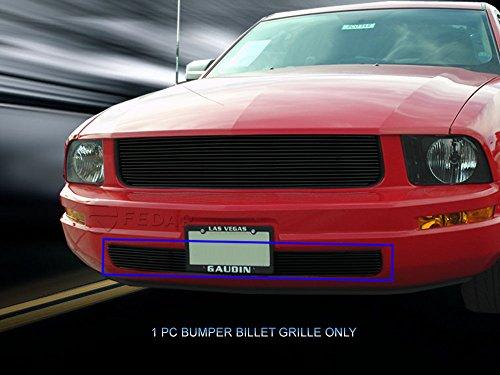 Fedar Lower Bumper Overlay Billet Grille Insert for 2005-2009 Ford Mustang V6 (Bumper Lower Overlay)