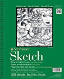 Strathmore 457-9 400 Series Recycled Sketch Pad, 9''x12'' Wire Bound, 100 Sheets