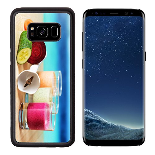 - Liili Premium Samsung Galaxy S8 Aluminum Backplate Bumper Snap Case ID: 22267570 Vegetable smoothie on wooden table on the beach background