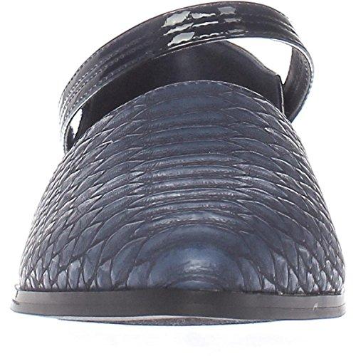 Callisto Oran Pekade Tå Ankelbandet Loafers - Marin, 9 Oss