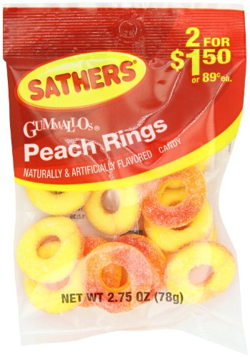 Farley's & Sathers Candy, Peach Rings, 2.75 Ounce (Pack of ()