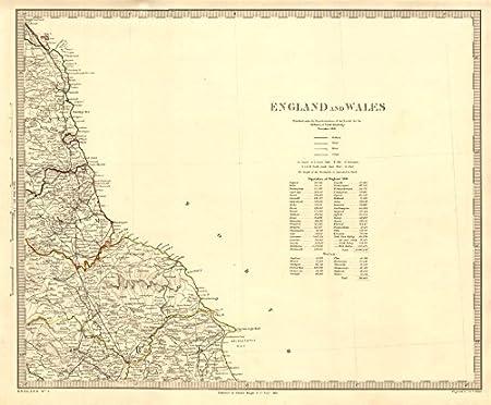 Map Of Uk East Coast.North East England Coast North York Moors Yorkshire Durham C