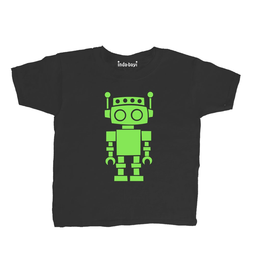 Inda-Bayi Baby-Toddler-Kids Cotton T Shirt - Robot