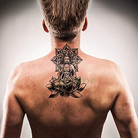 Yyoutop Impermeable Etiqueta Engomada del Tatuaje Temporal de Gran ...