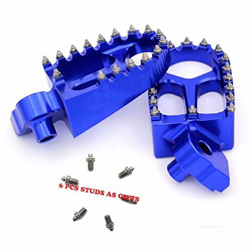 KKE YAMAHA FOOT PEGS YZ125 YZ250 YZ250F YZ450F YZ426F FOOTPEGS FOOTRESTS BLUE (Yamaha Parts Yz85)