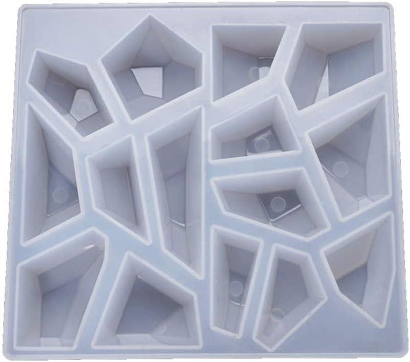 qingqingR Stampo in Resina epossidica di Cristallo Pietre Irregolari Fusione in Silicone Stampo Strumento Fai da Te