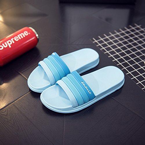 39 nbsp;Las verano wedding lindas cielo antideslizante parejas verano vestir cool baño Fankou Inicio stinky azul zapatillas zapatillas para baño mujeres cosas anti dnzUwwx7H