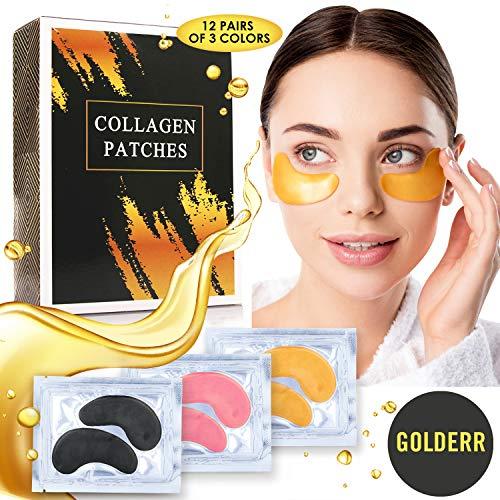 51xzTTkFlZL - GOLDERR Under Eye Patches - 24k Gold Eye Mask Anti-Aging Eye Treatment - Collagen Under Eye Pads - Hyaluronic Acid for Eye Bags - Puffy Eyes Wrinkles Under Eye Dark Circles Moisturizing Treatment