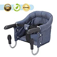 Hook On High Chair, Hoomall Safe Fast Table Chair, High Load Design Fold Flat Storage Attachable Table Tight Fixing Convenient Removable Seat
