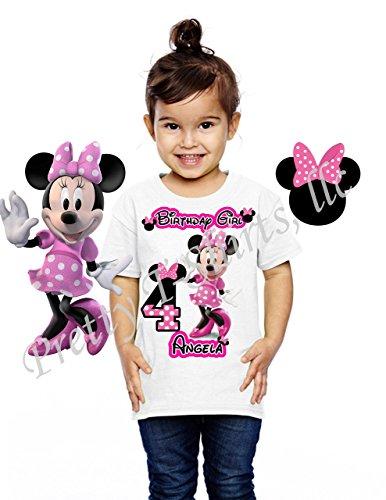 Amazon Minnie Mouse Birthday Shirt ADD Any Name Age FAMILY Matching Shirts Disney