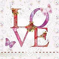 Multicolore 33 x 33 cm Nouveau X-mas Romance Serviettes en Papier