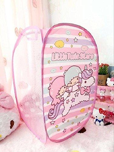 CJB Lovely Little Twinstar Foldable Pop Up Hamper Laundry Bag Pink