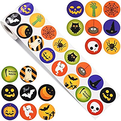picture about Halloween Stickers Printable identify Outus 720 Parts Halloween Stickers Established Halloween Pumpkin