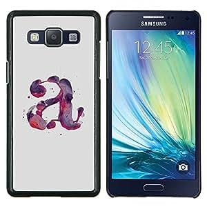 LECELL--Funda protectora / Cubierta / Piel For Samsung Galaxy A5 A5000 -- Carta Acuarela Pintura Púrpura Rojo --