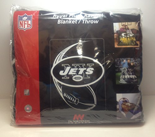 Northwest NFL New York Jets Royal Rashel Throw Blanket - 60