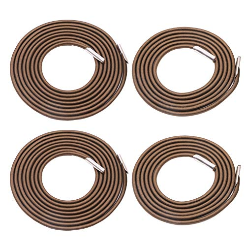 Universal 4 Replacement Cords for Zero Gravity Chair Replacement Laces Premium Bungee Ropes Recliner Repair Parts for Lounge Chair Anti Gravity Chair Bungee Chair (Coffee 2 Longs 2 Shorts)