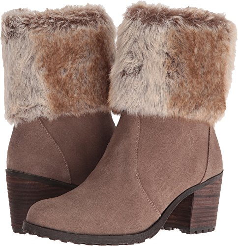 Aerosoles Women's Incognito Boot, Taupe Suede, 9.5 M US (Heel Fur High Trim Suede)