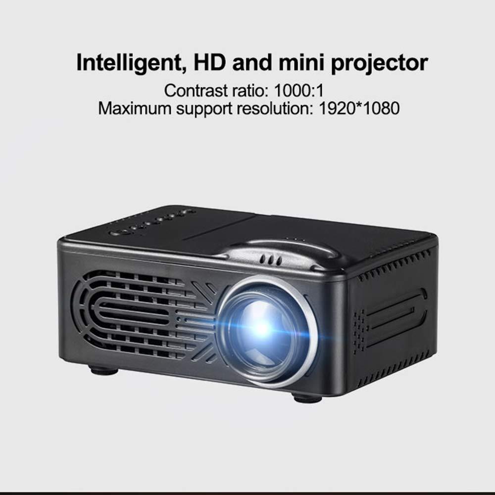 HAPPYLIANG Mini proyector lúmenes Soporte 1080P proyector portátil ...