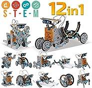 98K Solar Robot Kit 12 in 1 Educational STEM Learning Science DIY Building Toys for Kids Aged 10, 11 and Older